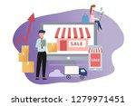 online seller and buyer... | Shutterstock .eps vector #1279971451