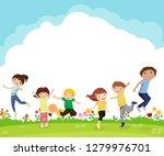 group of children | Shutterstock .eps vector #1279976701