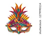 carnival mask. happy carnival...   Shutterstock .eps vector #1279990114