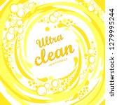 ultra clean. soap design... | Shutterstock .eps vector #1279995244