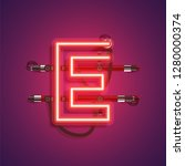 realistic neon character with... | Shutterstock .eps vector #1280000374