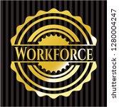 workforce gold emblem or badge | Shutterstock .eps vector #1280004247