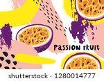 vector illustration of passion... | Shutterstock .eps vector #1280014777