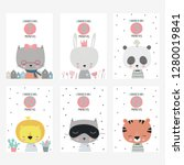 cute vector stickers for baby... | Shutterstock .eps vector #1280019841