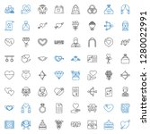 marriage icons set. collection... | Shutterstock .eps vector #1280022991