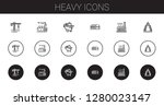 heavy icons set. collection of... | Shutterstock .eps vector #1280023147