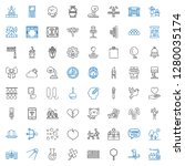 art icons set. collection of... | Shutterstock .eps vector #1280035174