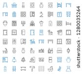 interior icons set. collection... | Shutterstock .eps vector #1280035264