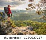 amateur photographer. tourist... | Shutterstock . vector #1280037217
