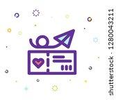 valentine day icon | Shutterstock .eps vector #1280043211