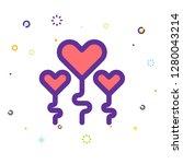 valentine day icon | Shutterstock .eps vector #1280043214