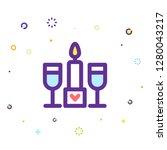 valentine day icon | Shutterstock .eps vector #1280043217