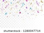 colorful bright confetti... | Shutterstock .eps vector #1280047714