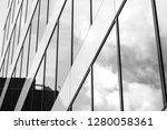 facade fragment of a modern... | Shutterstock . vector #1280058361
