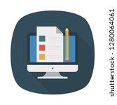 checklist   project   file  | Shutterstock .eps vector #1280064061