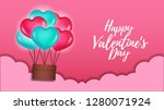 illustration of love romance... | Shutterstock .eps vector #1280071924