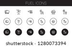 fuel icons set. collection of... | Shutterstock .eps vector #1280073394