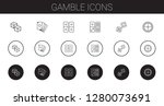 gamble icons set. collection of ... | Shutterstock .eps vector #1280073691