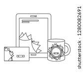 corporate merchandise elements... | Shutterstock .eps vector #1280082691