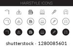 hairstyle icons set. collection ... | Shutterstock .eps vector #1280085601