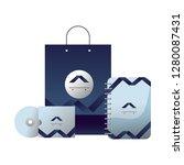 corporate merchandise elements... | Shutterstock .eps vector #1280087431