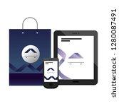 corporate merchandise elements... | Shutterstock .eps vector #1280087491