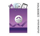 corporate merchandise elements... | Shutterstock .eps vector #1280087494