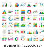 analytics statistics icons in... | Shutterstock .eps vector #1280097697