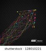 arrows in arrow colorful   dark ... | Shutterstock .eps vector #128010221