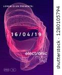 electronic fest. dynamic... | Shutterstock .eps vector #1280105794