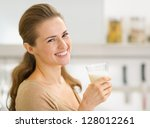 portrait of smiling young woman ... | Shutterstock . vector #128012261