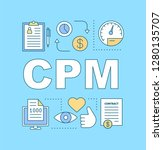 cpm word concepts banner. pay...
