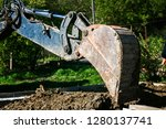 excavator used for pipe laying... | Shutterstock . vector #1280137741