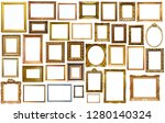 collection of isolated old... | Shutterstock . vector #1280140324