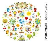 vector illustration of... | Shutterstock .eps vector #1280142817