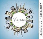 vienna austria city skyline...   Shutterstock .eps vector #1280144047