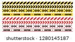 hazardous warning tape sets...   Shutterstock .eps vector #1280145187