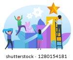 moving to goal  dream  idea.... | Shutterstock .eps vector #1280154181