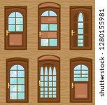 big set of beautiful doors.... | Shutterstock .eps vector #1280155981
