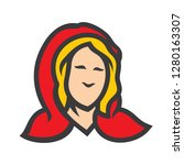 girl in a red hood sign. | Shutterstock . vector #1280163307