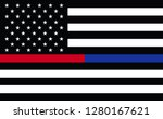 first responder usa. thin blue... | Shutterstock . vector #1280167621