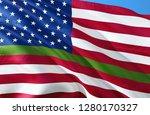anley fly breeze green line usa ... | Shutterstock . vector #1280170327