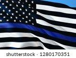 American Police Flag. Thin Blu...