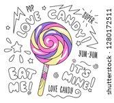abstract art candy ... | Shutterstock .eps vector #1280172511