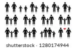 stick figure family. different... | Shutterstock .eps vector #1280174944
