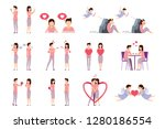 situations dating of young... | Shutterstock .eps vector #1280186554