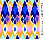 grunge pattern. ethnic fabric... | Shutterstock .eps vector #1280198944