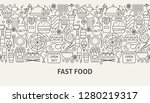 fast food banner concept.... | Shutterstock .eps vector #1280219317