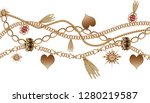 chain jewelry and tassel... | Shutterstock . vector #1280219587