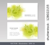 business card set.  vector... | Shutterstock .eps vector #128022155